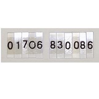 Lead-Numbers-Perspex